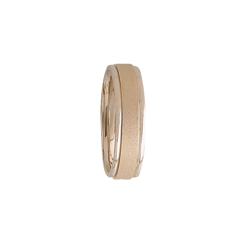 Cadman Catalog 6mm 5T70 Mens Two-Tone Wedding Band