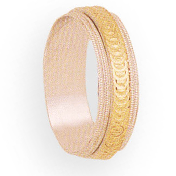 6mm 5T04 Ladies Two-Tone Wedding Band