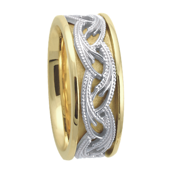 7.5mm 5646 LadiesTwo Tone Wedding Band