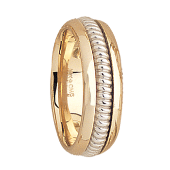 7.5mm 5514 Mens Two Tone  Wedding Band