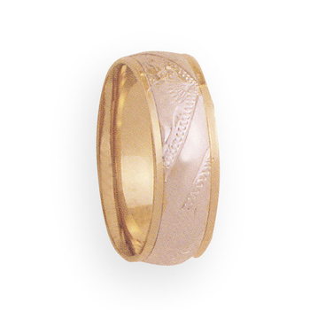 6mm 4T59 LadiesTwo Tone Wedding Band