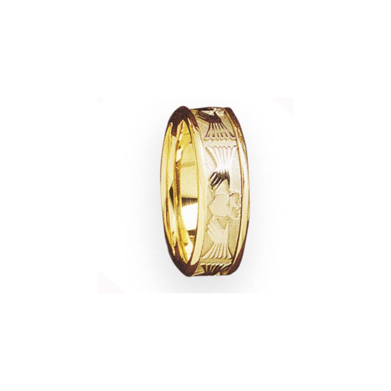 Cadman Catalog 7.5mm 5644 Mens Claddagh Wedding Band