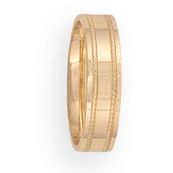 6mm 6T26 Mens Comfort Curve Wedding Band