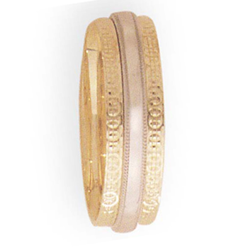 7mm 4T10 Mens Two-Tone Wedding Band
