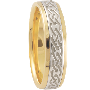 6mm 5850 Mens Celtic Wedding Band