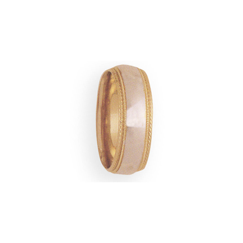 Cadman Catalog 8mm 3T98 Mens Two-Tone Wedding Band