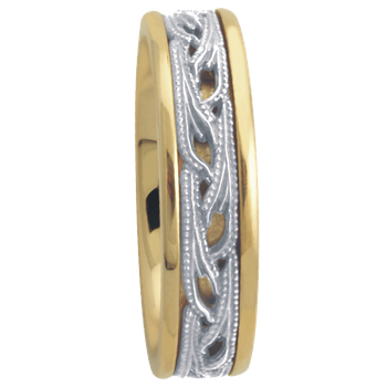 6.5mm 5648 Mens Two Tone Wedding Band