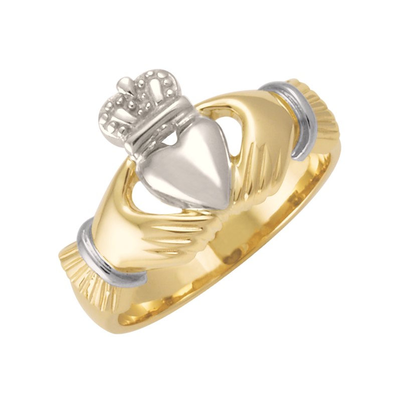 Cadman Catalog Mens Two-Tone Claddagh Signet CC74