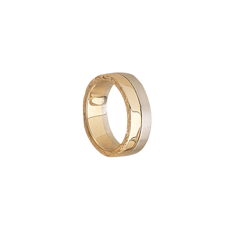 Cadman Catalog 7mm 5394 Mens Two Tone Wedding Band