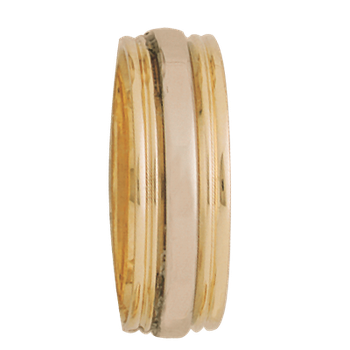 7.5mm 5260 Mens Two Tone Wedding Band