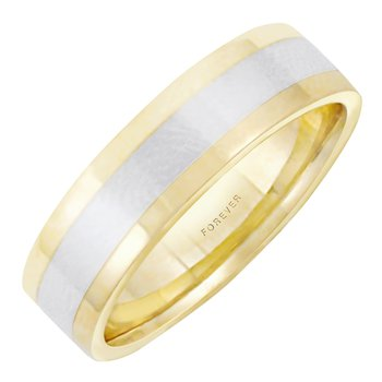 6mm 5T86 Mens Two-Tone Wedding Band