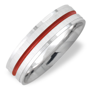 Fireman Red Stripe Band