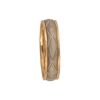 6mm 6T16 Mens Two-Tone Wedding Band