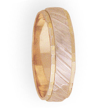 6mm 3T30 Mens Two-Tone Wedding Band
