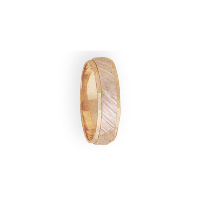 Cadman Catalog 6mm 3T30 Mens Two-Tone Wedding Band