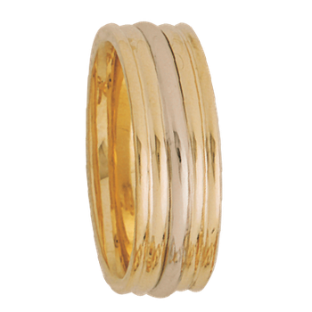 7.5mm 5256 Mens Two Tone Wedding Band