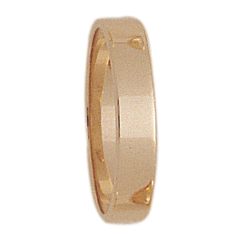 4mm S400R Ladies Light-Weight Rectangular Wedding Band
