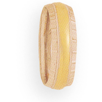 7mm 4T96 Mens Two-Tone Wedding Band
