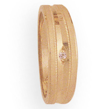 6mm 268D Ladies Tapered Wedding Band