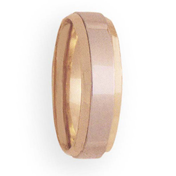 7mm 4T34 Mens Two-Tone Wedding Band