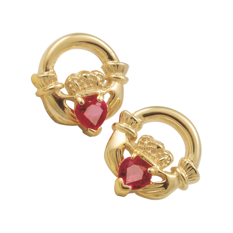 Cadman Catalog Claddagh Earrings