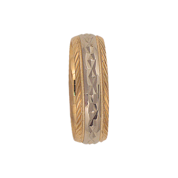 7mm 5T94 Mens Two-Tone Wedding Band