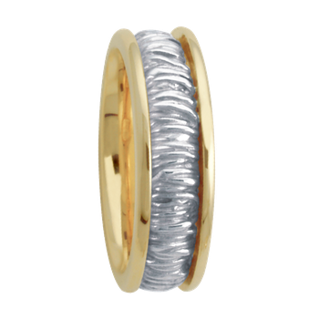 6.5mm 5659 LadiesTwo Tone Wedding Band
