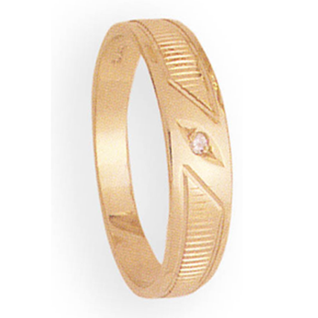 6mm 254 Mens Tapered Wedding Band