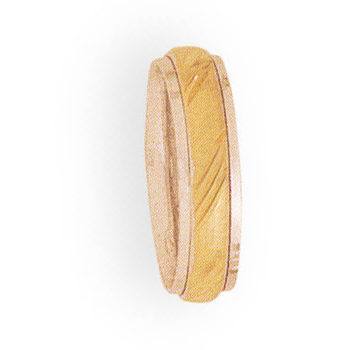 5mm 4T89 Ladies Two-Tone Wedding Band