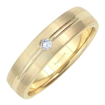 6mm 5T90D Mens Diamond-Set Wedding Band