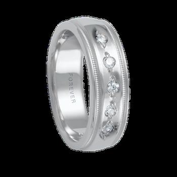 6mm 1T072 Ladies Diamond Set Comfort Curve Wedding Band
