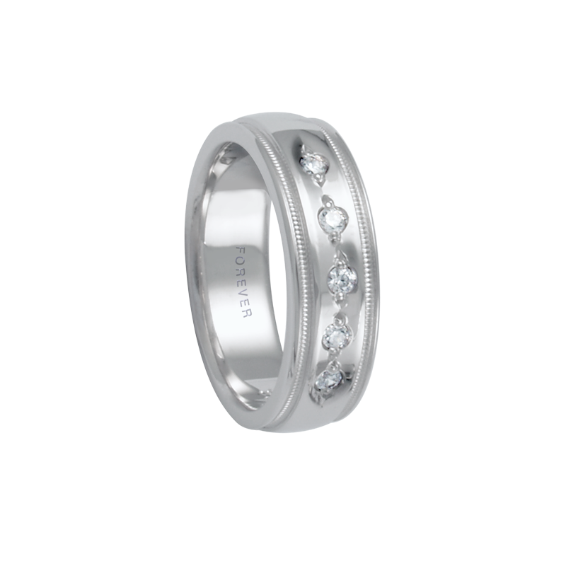 Cadman Catalog 6mm 1T072 Ladies Diamond Set Comfort Curve Wedding Band
