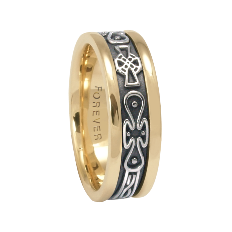 Cadman Catalog 7.5mm 5474 Mens Celtic Wedding Band