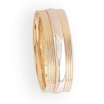 7m 5T20 Mens Two-Tone Wedding Band