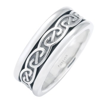 Cadman Ladies Celtic Spiral Pattern Wedding Band