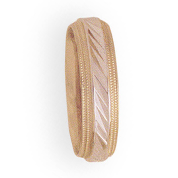 6mm 4T06 Ladies Two-Tone Wedding Band