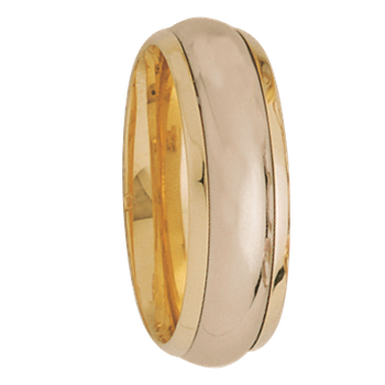 7.5mm 5264 Mens Two Tone  Wedding Band