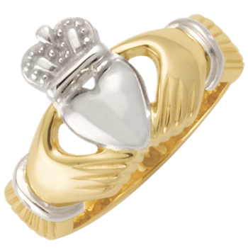Ladies Two-Tone Claddagh Signet CC75