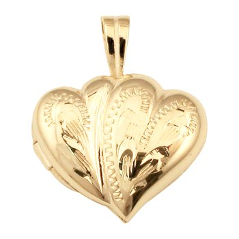 HAND-ENGRAVED DOUBLE HEART LOCKET