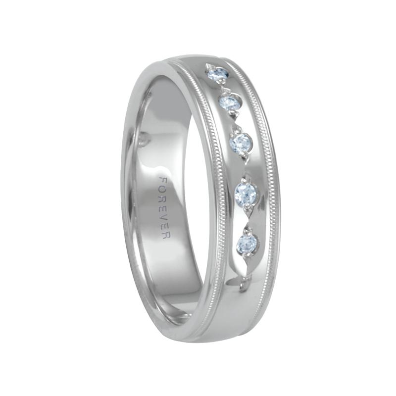 Cadman Catalog 6mm 1T072 Mens Diamond Set Comfort Curve Wedding Band