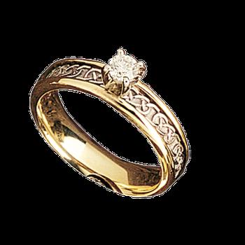 MK5608 Ladies 5.5mm Celtic Diamond Mount Band