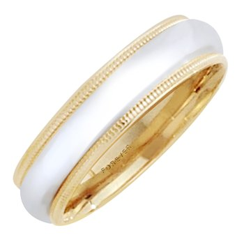 5mm 5T01B Mens Two-Tone Wedding Band