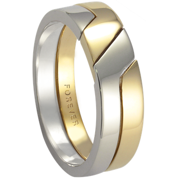 6mm 5778 Mens Two Tone Wedding Band