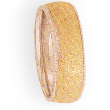8mm 4T80 Mens Two-Tone Wedding Band