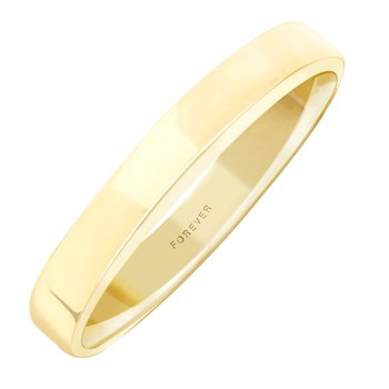 3mm S300R Ladies light-weight Rectangular  Wedding Band