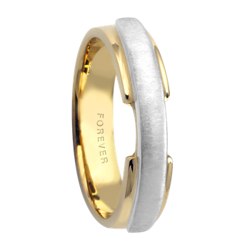 4mm 5345 Ladies Two Tone Wedding Band