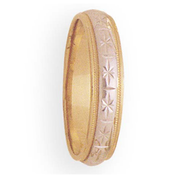 5mm 2T44 Mens wo-Tone Wedding Band