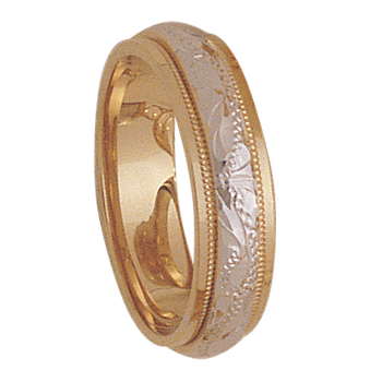 5mm 3T93 Ladies Two Tone Wedding Band
