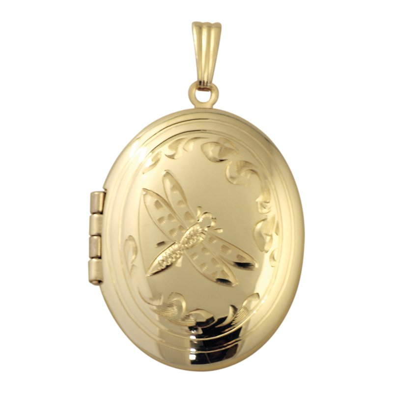 Cadmans HAND-ENGRAVED OVAL BUTTERFLY LOCKET