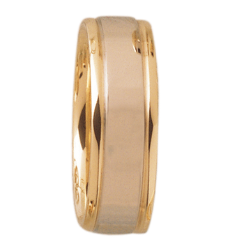 7mm DF7T01 Mens Two-Tone Comfort Curve Wedding Band